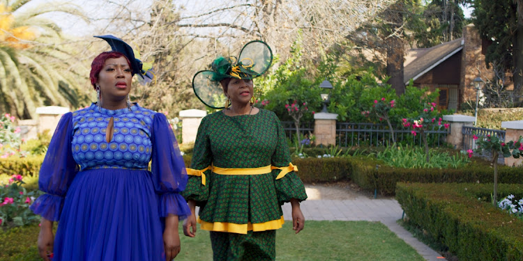 Rami Chuene and Clementine Mosimane in the 3-part Television series How To Ruin Christmas: The Wedding.