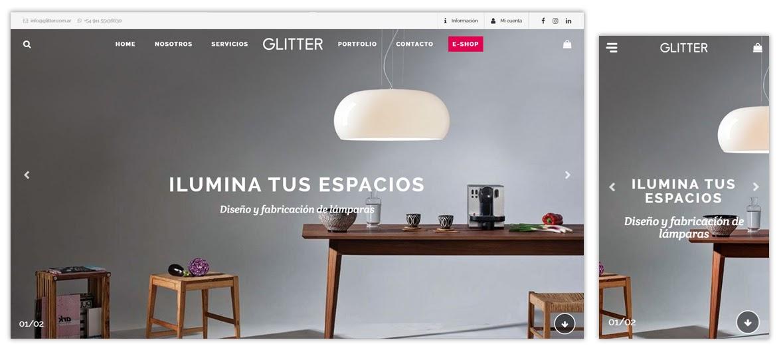 Sitio web Glitter iluminación