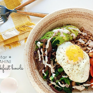 Farro Breakfast Bowls with Za'Atar and Lemon Tahini Recipe