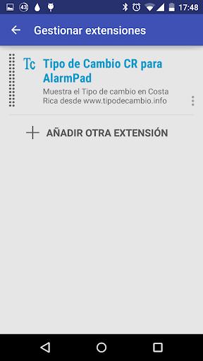 Tipo de Cambio for AlarmPad