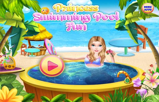 王女 スイミングプールとビーチ