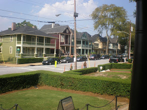 Photo: view of middle class homes from front of MLK home