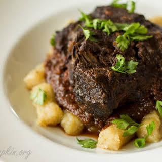 """Mediterranean beef stew (""""Pasticada"""")."""