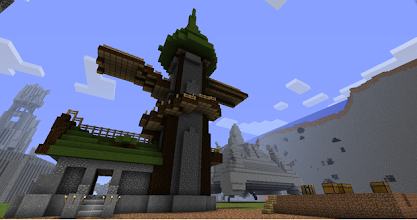 Photo: an airship dock from World of Warcraft, built by Thusguyhere