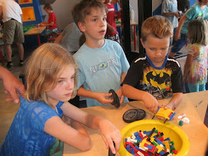 Photo: Busy builders in the Legoland workshop