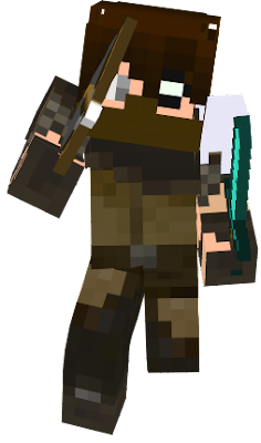 Eric Pickett, during the war against humans and mobs, decided to join the good side instead of raiding both, he cant get