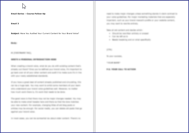Expressing Your Brand Voice - Course Follow Up Email 3