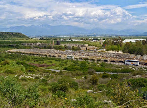 Photo: Perge - Stadium in the foreground and the city in the back