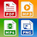 All Files Converter - PDF, DOC, JPG, GIF, MP3, AVI icon