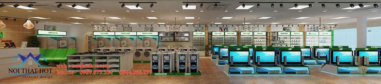 thiết kế siêu thị điện máy cao cấp
