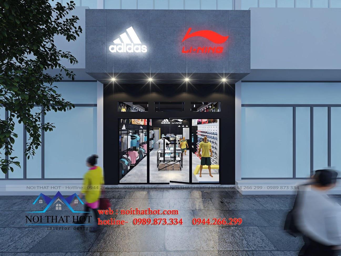 thiết kế shop thời trang adidas 1