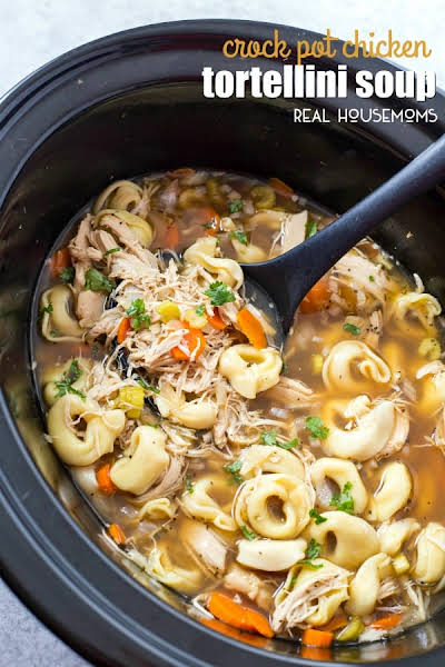 Crockpot Chicken Tortellini Soup