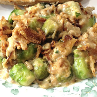 Brussels Sprouts Mushroom Casserole