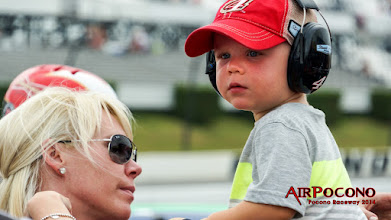 Photo: Keelan Harvick sitting on top of a tool box on pit road with his Mom Delana. Daddy Kevin is out working on a championship season. https://plus.google.com/+KevinHarvickOfficial
