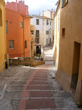 Photo: One more walk down the back staircases to a quiet area of Old Menton.