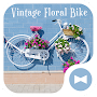 Cute Wallpaper Vintage Floral Bike Theme APK icon