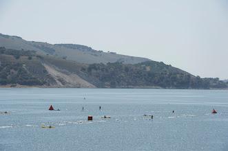 Photo: 4. The swim course is one big loop through beautiful Lake San Antonio.