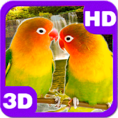 Lovebirds Kissing Cute Parrots Pair Android APK Download Free By PiedLove.com Personalizations