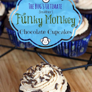 The Bug's Ultimate {Healthier} Funky Monkey Chocolate Cupcakes