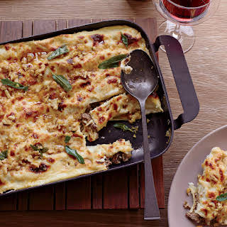 Cannelloni with Walnuts and Fried Sage.