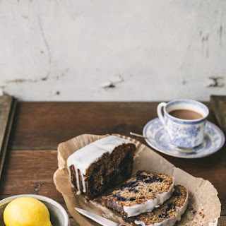 Earl Grey Tea, Blueberry and Lemon Cake.