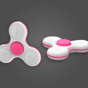 Orion White/Pink Cap by Justin Kifer - Artistic Objects Technology Objects ( technology objects, product, technology, colorful, color,  )