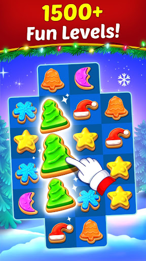 Christmas Cookie - Santa Claus's Match 3 Adventure modavailable screenshots 1