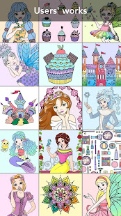 Princess coloring book 4