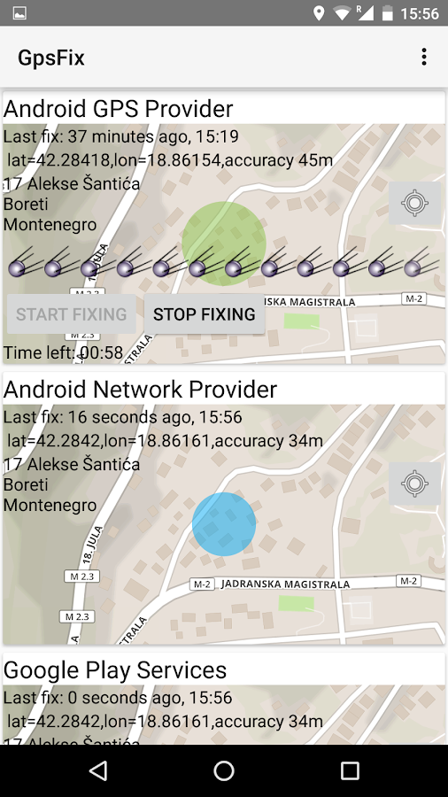 GPS Fix- screenshot