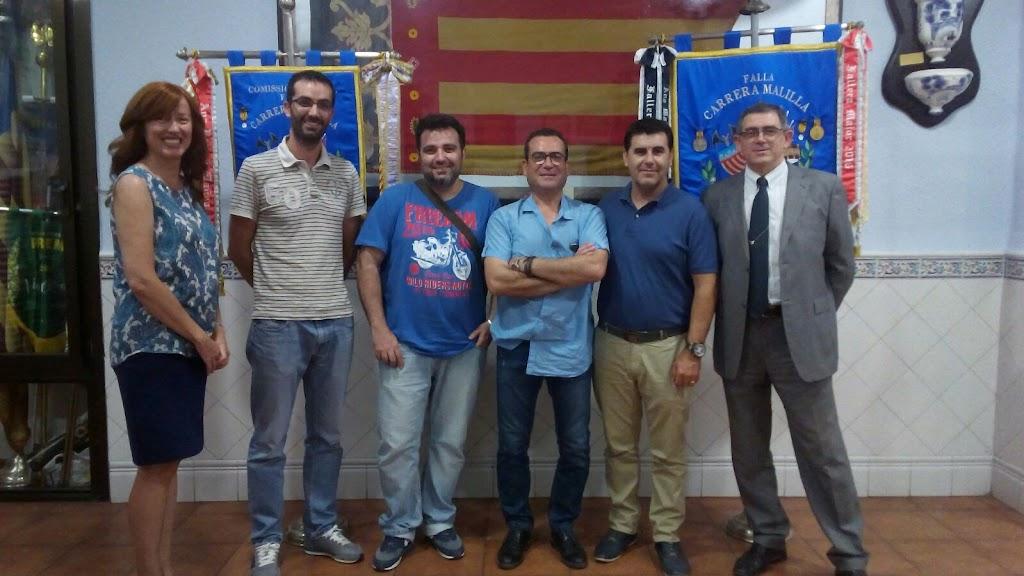 Carrera Malilla- Ingeniero Joaquín Benlloch, firma de contratos con sus artistas falleros 2018