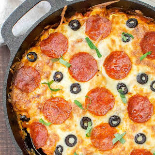 Pizza Tortellini Skillet Casserole.