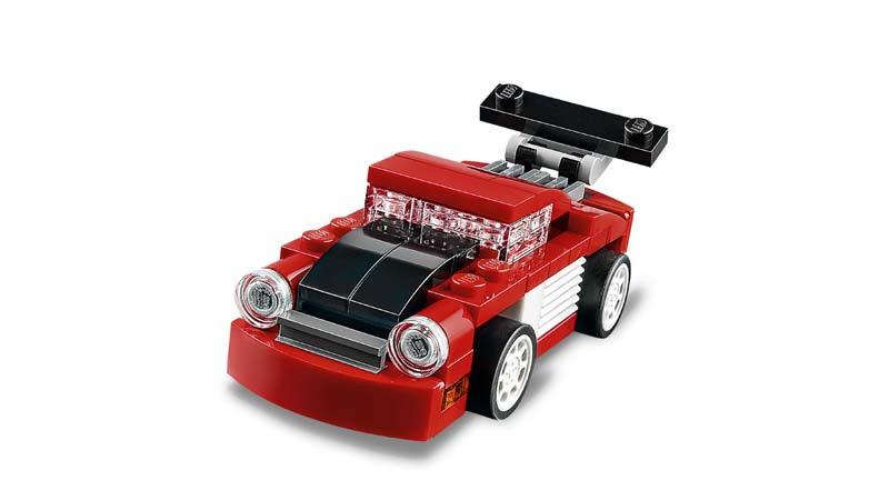 Contenido de Lego® 31055 Deportivo Rojo