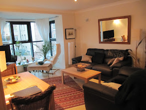 Photo: Living room, with dining area on left, director's flat