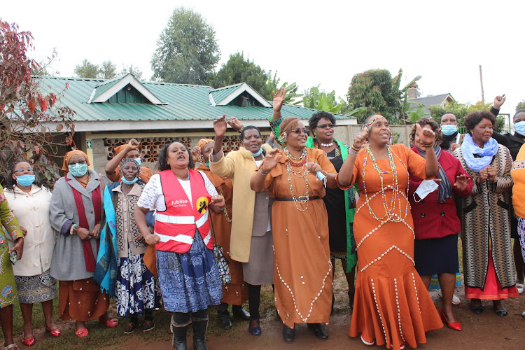 Women leaders in Nyeri on Wednesday.