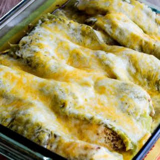 Low-Carb Twice-Cooked Chicken with Green Chiles and Cheese.