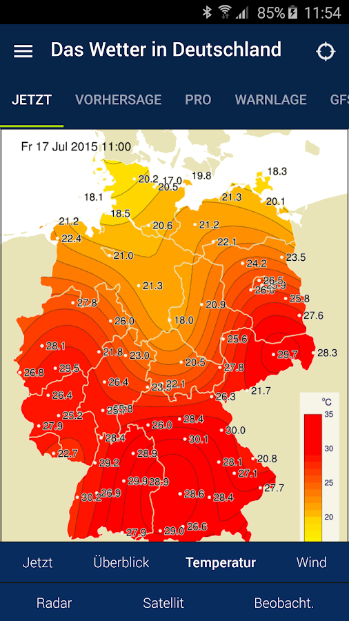Das Wetter in Deutschland - Android Apps on Google Play