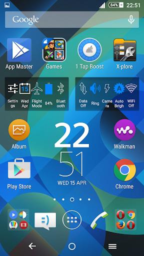 Pattern Blue Theme For Xperia screenshot 2