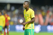 Phakamani Mahlambi during the International friendly match between South Africa and Angola at Buffalo City Stadium on March 28, 2017 in East London, South Africa.
