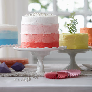 Vanilla Cake In Pink Ombré
