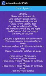 Ariana Grande - Focus Lyrics screenshot 1