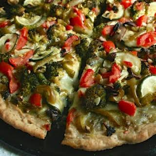 Verdant Veggie Pesto Pizza.