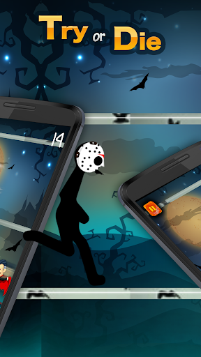 Code Triche Survie de stickman effrayant - Halloween Escape Ju APK MOD screenshots 2