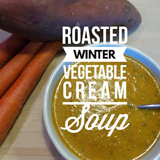 Roasted Winter Vegetable Cream Soup.
