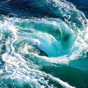 Whirlpool by Jake Barrows - Nature Up Close Water ( water, blue, ocean, spiral, whirlpool )