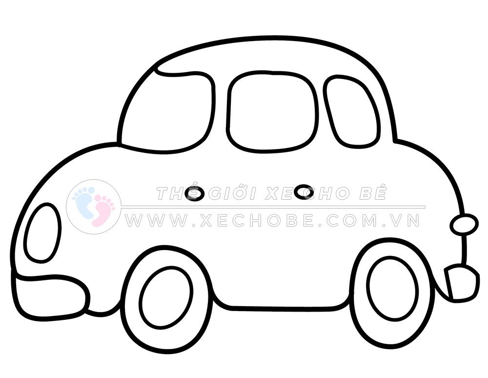 Tranh tô màu xe ô tô cho bé 1
