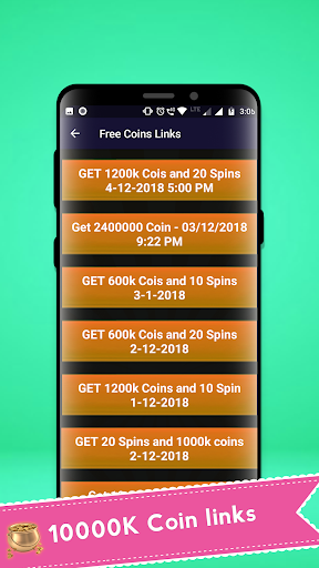 Free Coin and Spin Daily Link 1.0 screenshots 2