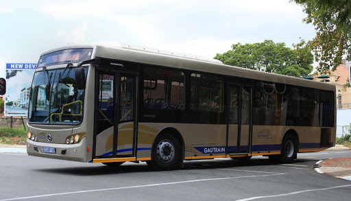 A Gautrain bus driving through Rosebank. File photo.