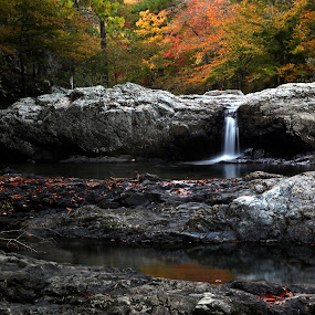 Little Missouri Falls by William Rainey  - Landscapes Waterscapes ( backpacking, waterfalls, landscapes, photography, hiking, arkansas )