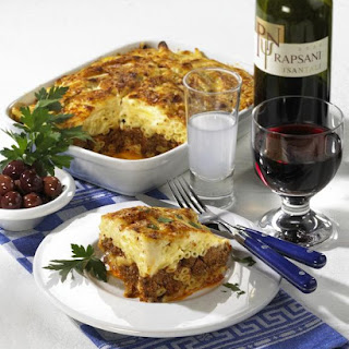 Baked Macaroni and Cheese with Meat.