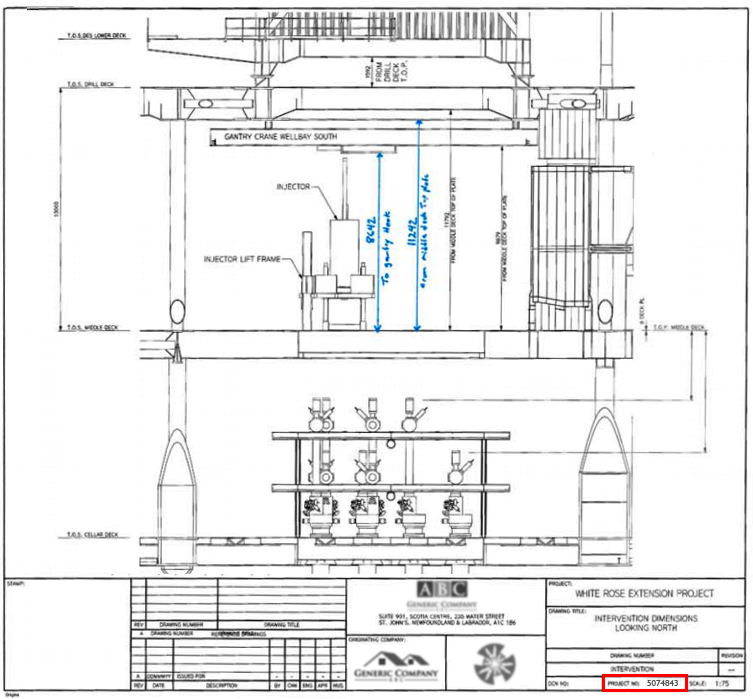 Engineering drawing example - lacking context